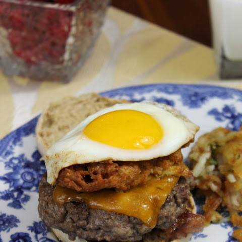 CORN FRITTER BREAKFAST BURGERS