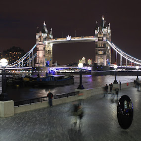 tower bridge, london by Davor Kapetan - City,  Street & Park  Street Scenes ( night, lights )