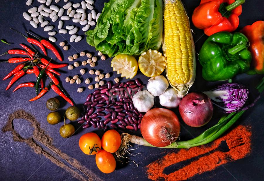 Go Grow Glow by Chipoy Cruz - Food & Drink Fruits & Vegetables ( frame, food, vegetables, display, restaurant, photography )