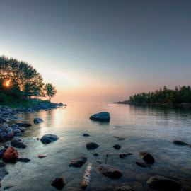 Cove Point at Beaver Bay, Minnesota by Peter Stratmoen - Uncategorized All Uncategorized ( beaver bay, sunrise, minnesota, cove point, lake superior,  )