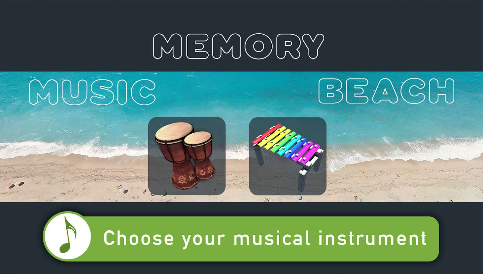 Music Memory Beach Screenshot