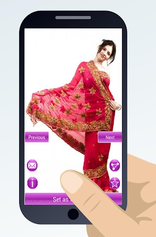 android indian sari dresses Screenshot 4
