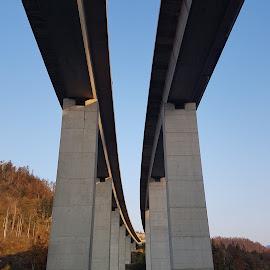 Fuzine, Croatia by Željka Barbarić - Buildings & Architecture Bridges & Suspended Structures ( #viaduct #lake #highway #bridge #croatia )