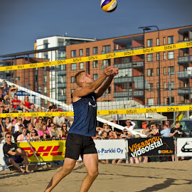 Beach volley by Simo Järvinen - Sports & Fitness Other Sports ( playing, sunny, outdoor, beach volley, action, sports, summer, people, man )
