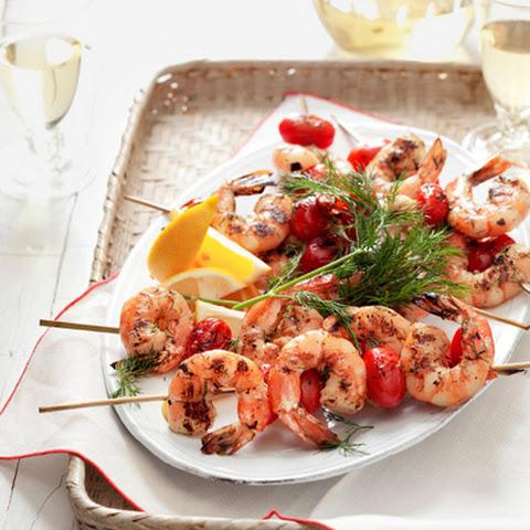 Mediterranean Shrimp Skewers Recipe | Yummly