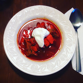 Ukrainian Borscht by LaDawn Park - Food & Drink Plated Food