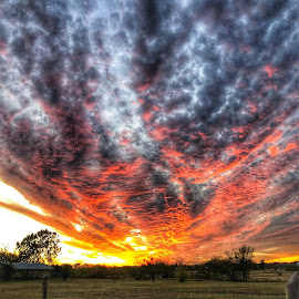 Texas Sunset  by Victor Quinones - Novices Only Landscapes ( texas sunset coldfront )