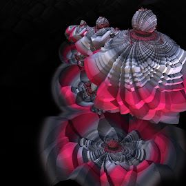 In the Pink by Glenda Popielarski - Illustration Abstract & Patterns ( m3d, abstract art, digital art, fractal art, mandelbulb 3d, pink, mb3d, fractals, black )