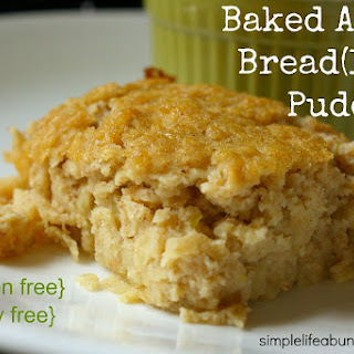 Apple Bread(less) Pudding