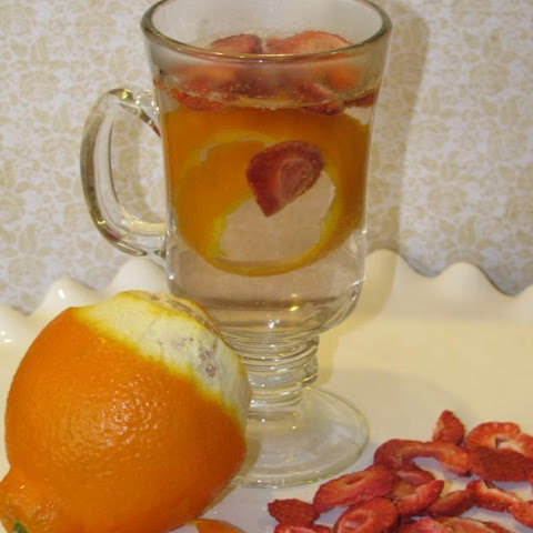 Tangerine and Strawberry Infused Water