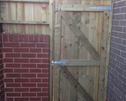 wooden made gate in devon | Paul Jackson Landscaping & Fencing