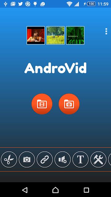 AndroVid Pro Video Editor screenshots