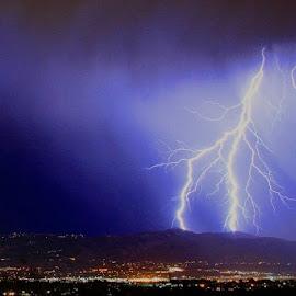 Salt Lake Strike by Paul Marto - Landscapes Weather