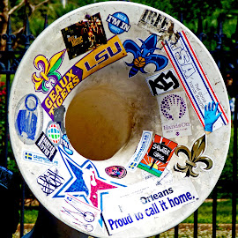 Who Dat Tuba by David Walters - City,  Street & Park  Street Scenes ( music, musicians, new orleans, band, lumix fz200, french quarter, street scene )