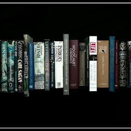 Stacked by Kyric Designs - Artistic Objects Education Objects ( books, reading, stacked, library, titles )