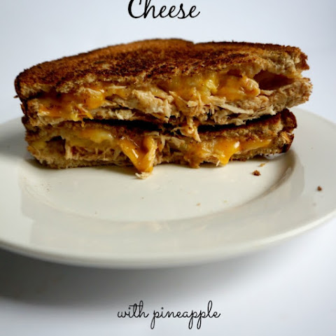 BBQ Chicken Grilled Cheese with Pineapple