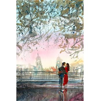 Greenwich London art print british english epainting