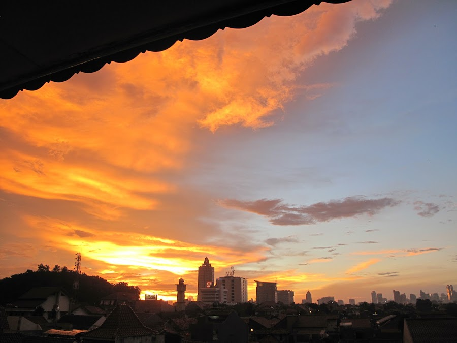 Sunset - West Jakarta 2 by Darnell Pantow - Buildings & Architecture Office Buildings & Hotels ( sky, sunset, buildings )