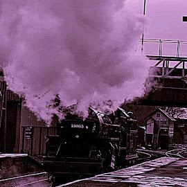 Cold   steam by Gordon Simpson - Transportation Trains