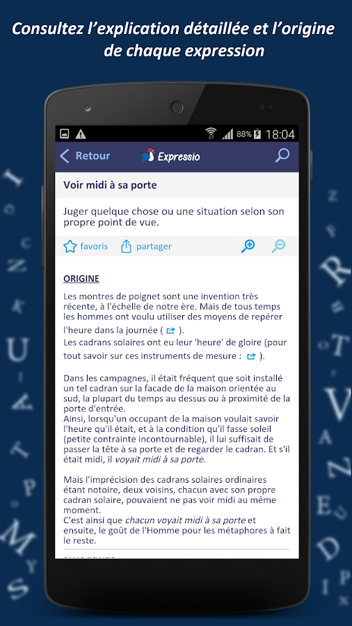 Dictionnaire Expressio Screenshot 1