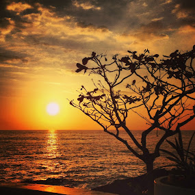 Royal Kona Sunset by Nicolas Los Baños - Instagram & Mobile iPhone ( kona, skyline, sunset, scenery, paradise, hawaii )