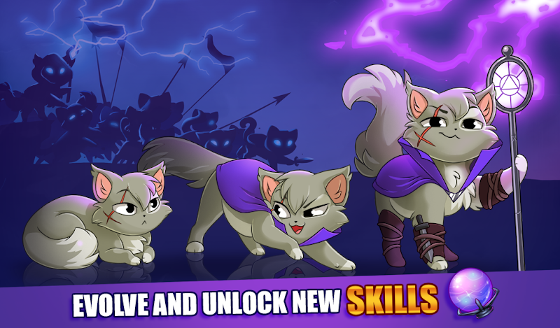 Castle Cats:  Idle Hero RPG Screenshot 2