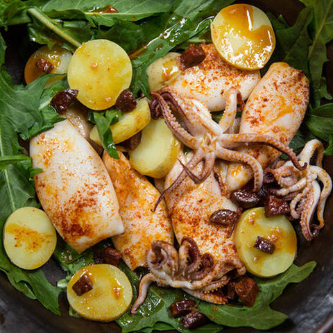 Roasted Squid With Chorizo and Pimentón