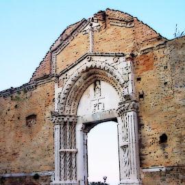 by Clara Scarano Scubla - Digital Art Places ( church, ruins, italy )