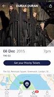Screenshot of O2 Priority Tickets