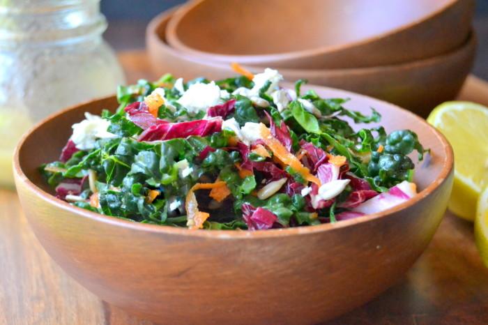 Kale Slaw with Lemon Sesame Dressing Recipe | Yummly