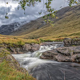 Mountain Stream by Mandy Hedley - Landscapes Mountains & Hills ( water, scotland, glencoe, stream, mountain, rocks )
