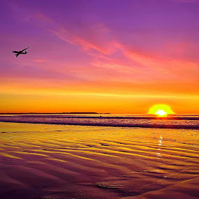 relaxing by David Pratt - Landscapes Sunsets & Sunrises ( fine art, beach, sunrise, landscapes, sun )