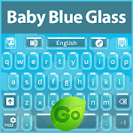 GO Keyboard Baby Blue Glass Icon