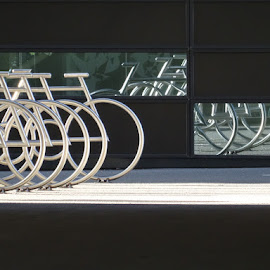 Bike racks by Kenneth Spaberg - Transportation Bicycles ( racks, bike, art, oslo, architecture, transportation, norway, city, bicycle )