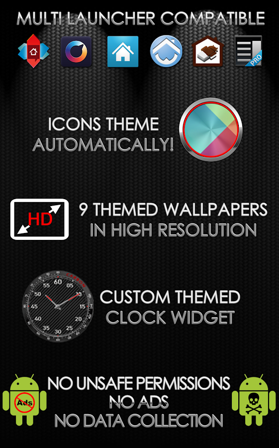 Carbon Theme for Apex Nova ADW Screenshot 8