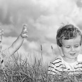 two little brothers by Pieter De Pauw - Babies & Children Children Candids ( two, children, laughter, portrait )