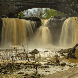 Ohio Waterfall by Donna Sparks - Landscapes Waterscapes ( color, waterfall, city )