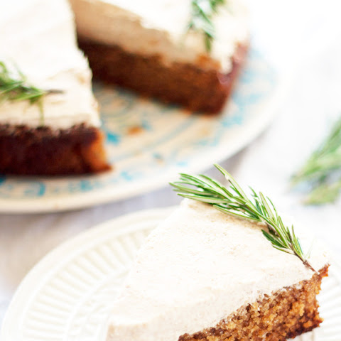 Spiced Honey Cake With Gingersnap Frosting