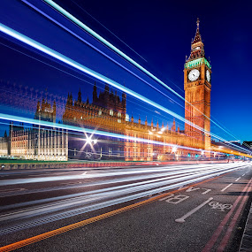 Big Ben by Fokion Zissiadis - Buildings & Architecture Public & Historical ( landmark, famous landmarks, travel, big ben london night photography, , city, night, city at night, street at night, park at night, nightlife, night life, nighttime in the city )