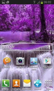 Nature Purple Fall LWP - screenshot