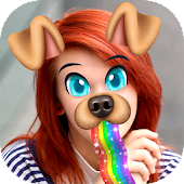 Snap Doggy Face Stickers Icon