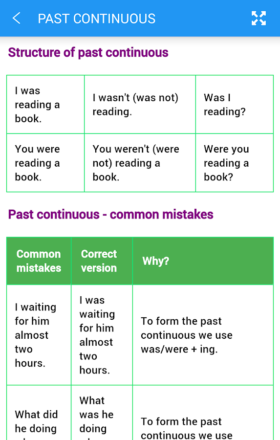 English Tenses Screenshot 6
