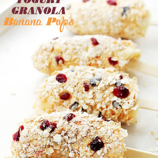 Yogurt Granola Banana Pops