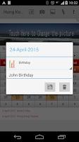 Screenshot of Hong kong Calendar 2015