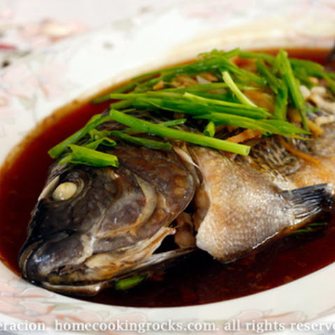 Steamed Whole Tilapia With Ginger And Soy Sauce