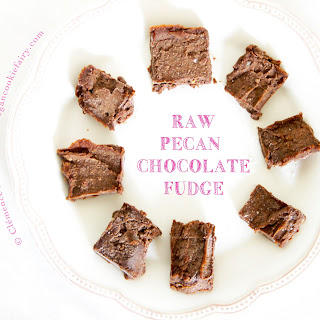 Raw Pecan Chocolate Fudge