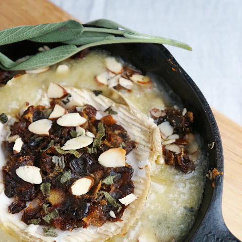 Brie Cheese with Dates, Almonds and Sage
