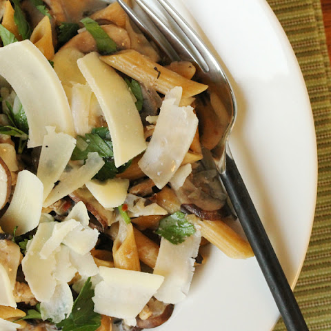 Mushrooms and Penne in Wine Sauce