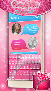 App Pink Glitter Keyboard Art APK for Kindle