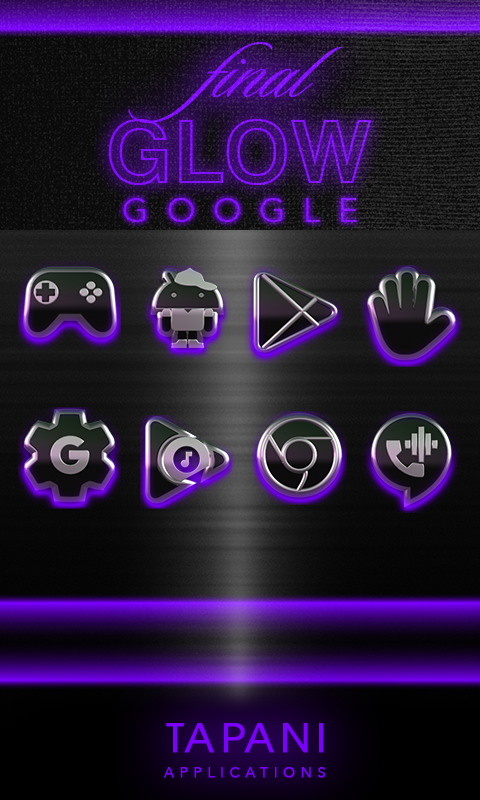 icon pack HD 3D glow purple Screenshot 3
